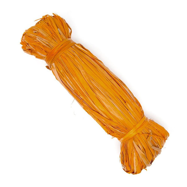 Small Raffia Grass Bundle, Orange, 50-Grams