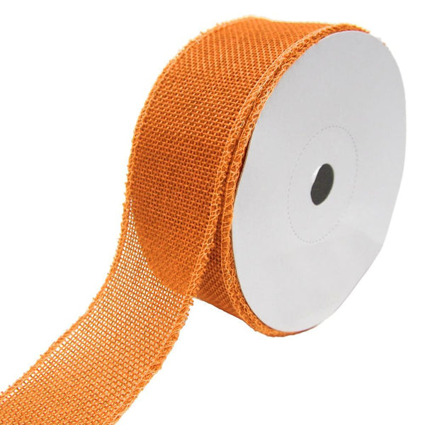 Loose Weave Faux Jute Ribbon, Orange, 1-1/2-Inch, 10-Yards
