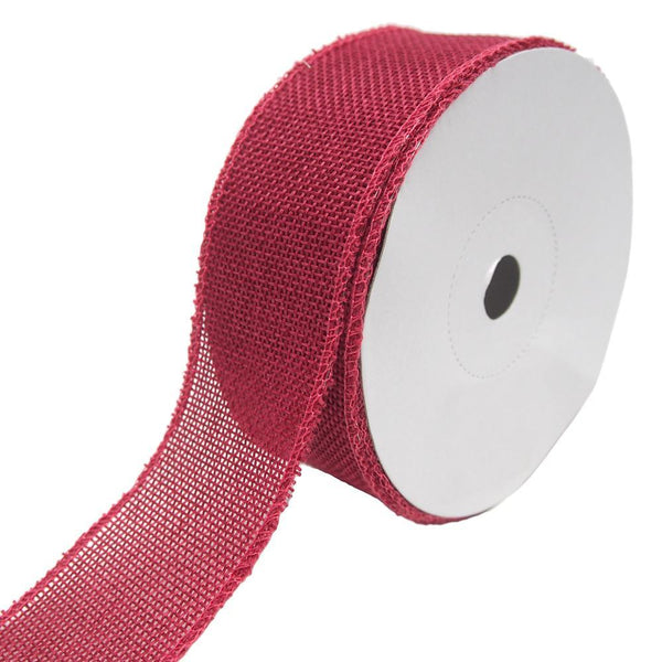 Loose Weave Faux Jute Ribbon, Fuchsia, 1-1/2-Inch, 10-Yards