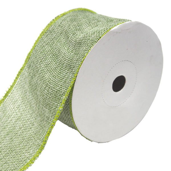 Loose Weave Faux Jute Ribbon, Moss Green, 2-1/2-Inch, 10-Yards
