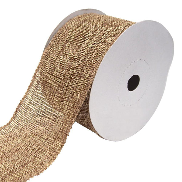 Loose Weave Faux Jute Ribbon, Natural, 2-1/2-Inch, 10-Yards