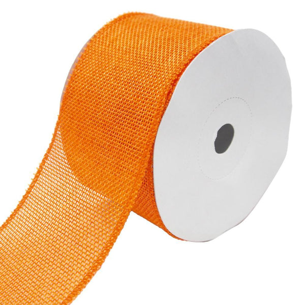 Loose Weave Faux Jute Ribbon, Orange, 2-1/2-Inch, 10-Yards