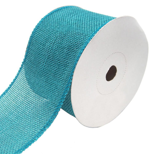 Loose Weave Faux Jute Ribbon, Teal, 2-1/2-Inch, 10-Yards