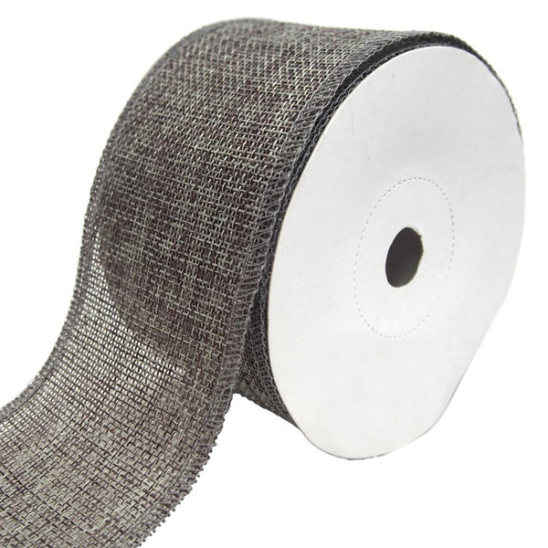 Loose Weave Faux Jute Ribbon, Smoke, 2-1/2-Inch, 10-Yards