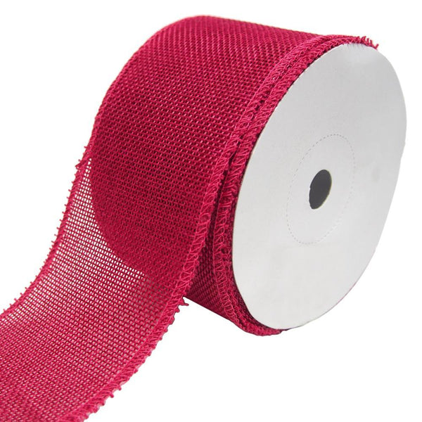 Loose Weave Faux Jute Ribbon, Fuchsia, 2-1/2-Inch, 10-Yards