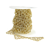 Chandelier Drop Crystal Rhinestone Jewel Trim, Gold, 1-1/8-Inch, 3-Yard