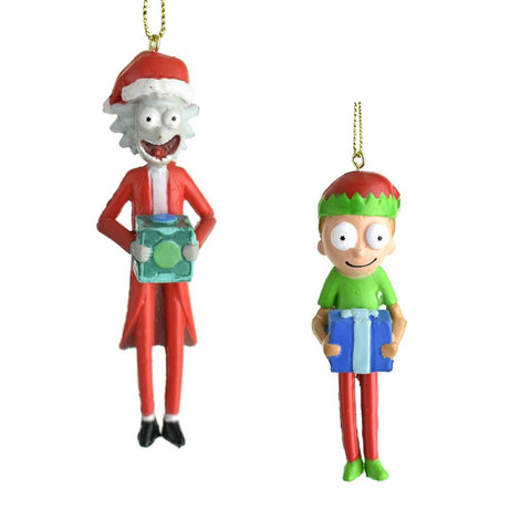 Rick and Morty Santa Helper Christmas Ornaments, 2-Piece
