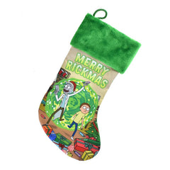 """Merry Rickmas"" Rick and Morty Christmas Stocking, Green, 18-Inch"
