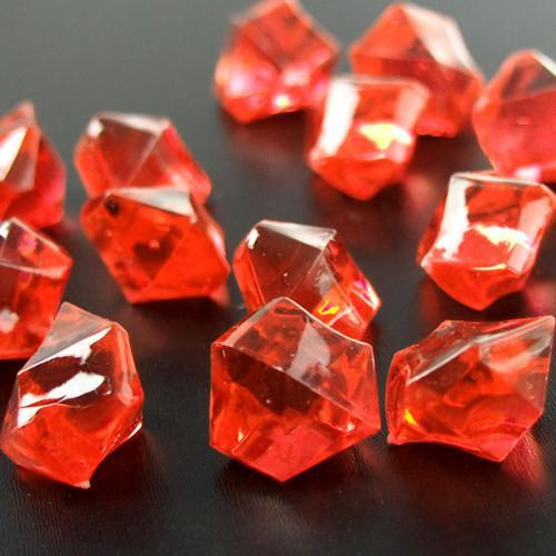 Acrylic Crystal Ice Rocks Table Scatter, 1-inch, 150-Piece, Red