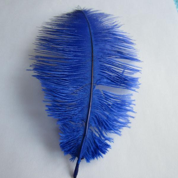 Ostrich Feather Decorative Centerpiece, 15-Inch, 1-Piece, Royal Blue