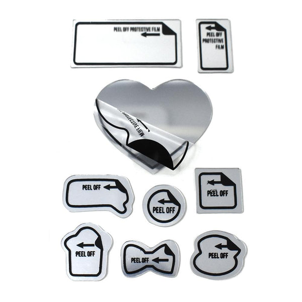 Fancy Adhesive Mirror Stickers, 9-Piece
