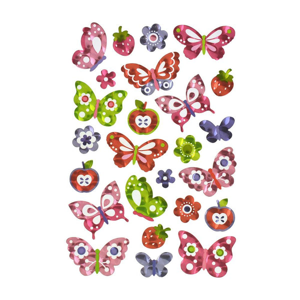 Butterfly Holographic Foil Stickers, 25-Piece