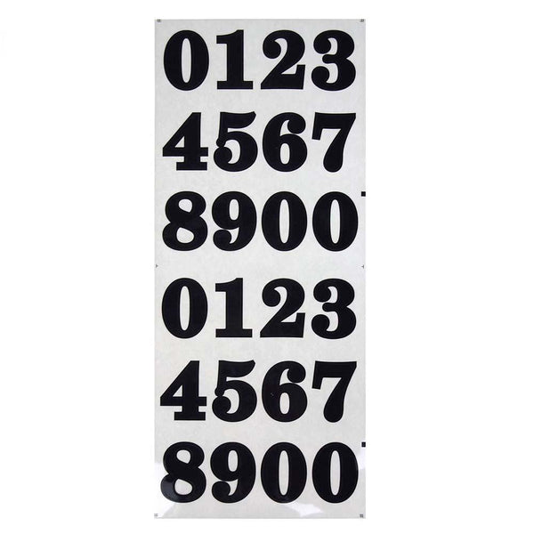 Bold Number Stickers, Black 1-1/2-Inch, 40-Count