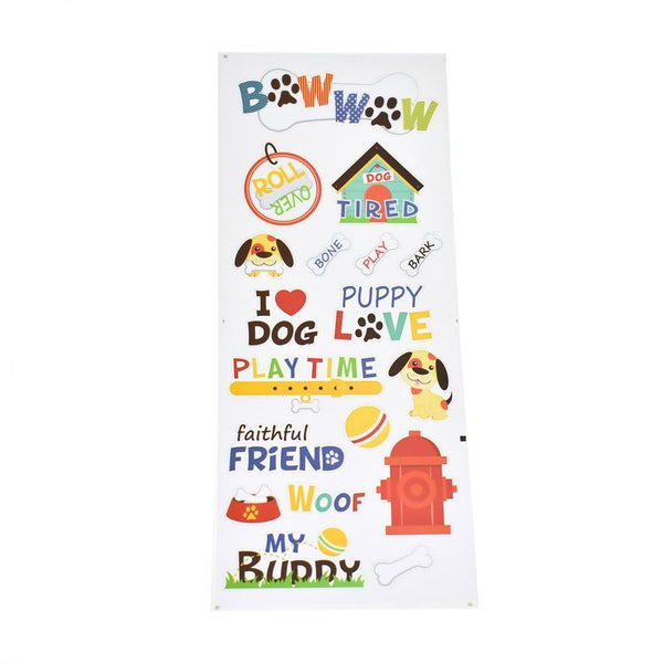 Pet Puppy Dog Clear Stickers, 18-Piece