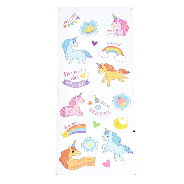 Magical Unicorn Clear Stickers, 18-Piece
