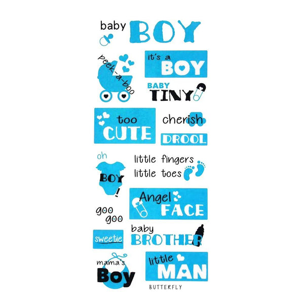 Its A Boy Clear Photo Safe Stickers, Blue, 15-Inch