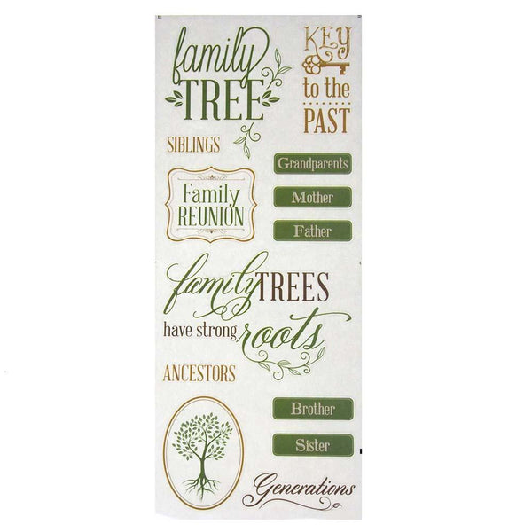 Family Tree Clear Photo Safe Stickers, 13-Count