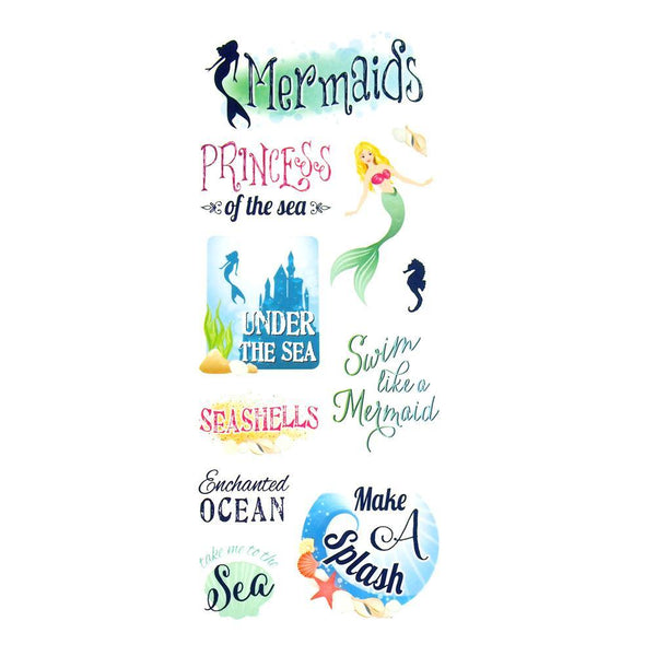 Princess of the Sea Clear Photo Safe Paper Stickers, 11-Count