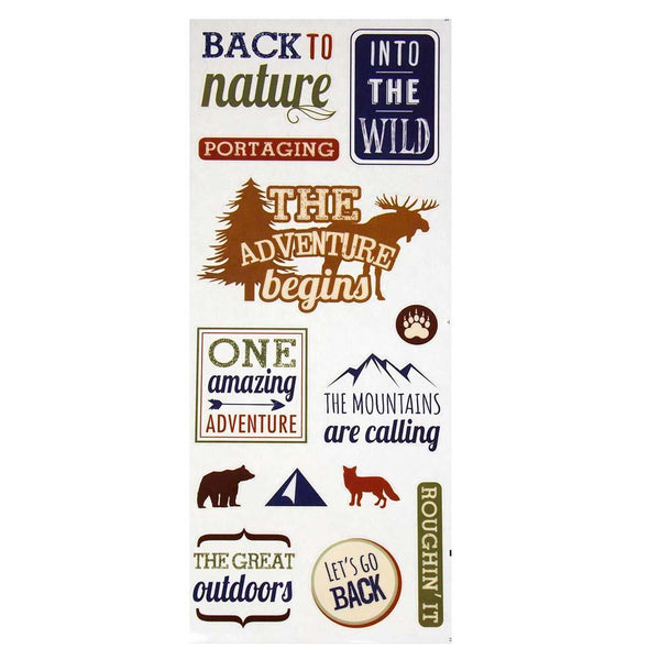 Into The Wild Clear Photo Safe Stickers, 13-Count