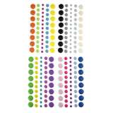 Adhesive Enamel Dot Stickers, 51-Piece