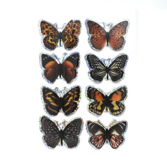 Monarch Pop-Up Foil Butterflies 3D Stickers, 8-Piece