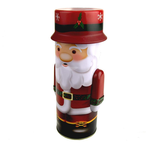 Nutcracker Santa Clause Tin Christmas Box, 9-1/2-Inch