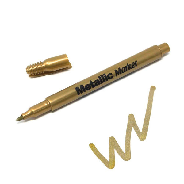 Metallic Gold Marker 1.2mm Fine Point, 5-Inch