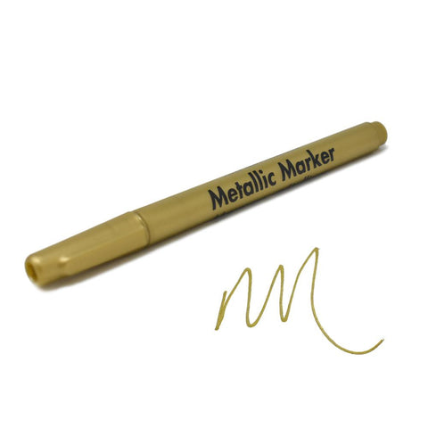 Metallic Marker 0.7mm Extra Fine Point, 5-1/2-Inch, Gold