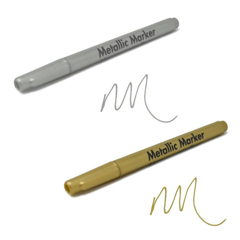 Metallic Marker 0.7mm Extra Fine Point, 5-1/2-Inch