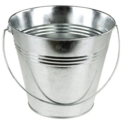 Metal Pail Buckets Party Favor, 7-inch, Silver