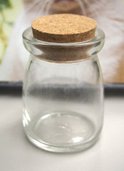 Mini Glass Jar Favors Corked Bottle, 3-1/4-inch, Spice Jar
