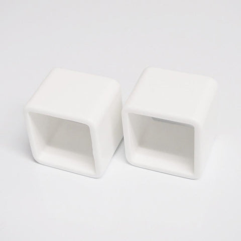 Plastic Ring Napkin Holder, Square, 6-Piece, White
