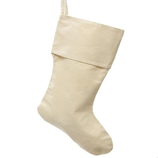 Natural Canvas Plain Christmas Stocking, 24-Inch, 6-Piece