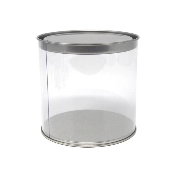 Party Favor Cylinder with Tin Lid, 3.8-Inch