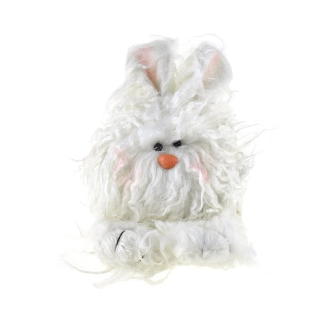 Small Plush Furry Angora Easter Bunny, 8-Inch
