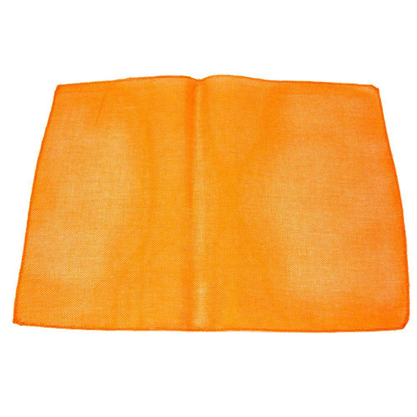 Faux Jute Rectangular Table Placemats, Orange, 19-Inch, 10-Count