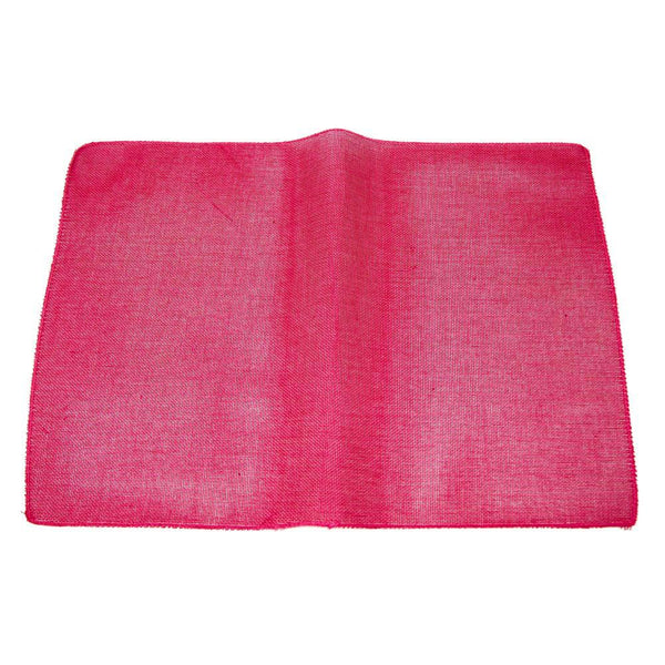Faux Jute Rectangular Table Placemats, Fuchsia, 19-Inch, 10-Count