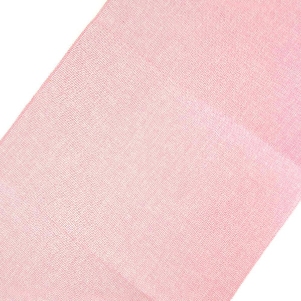 Faux Jute Rectangular Table Runner, Pink, 72-Inch