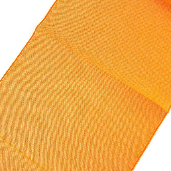 Faux Jute Rectangular Table Runner, Orange, 72-Inch