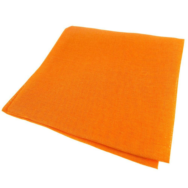 Faux Jute Square Table Overlay, Orange, 56-Inch