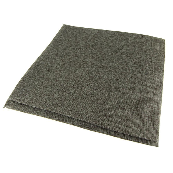 Faux Jute Square Table Overlay, Dark Grey, 56-Inch
