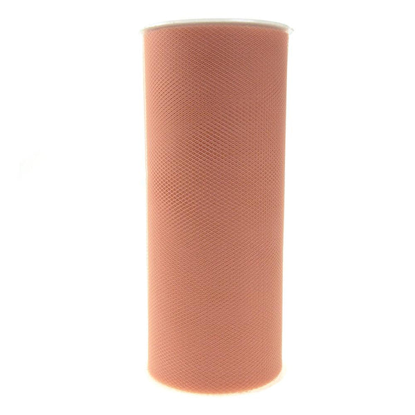 Tulle Spool Roll Fabric Net, Blush, 6-Inch, 25 Yards