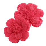Paper Scalloped Magnolia Wall Flower, Assorted Sizes, 2-Piece