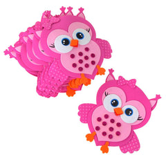 Foam Owl Animal Cutouts with Glitter, Pink, 7-1/2-Inch, 10-count