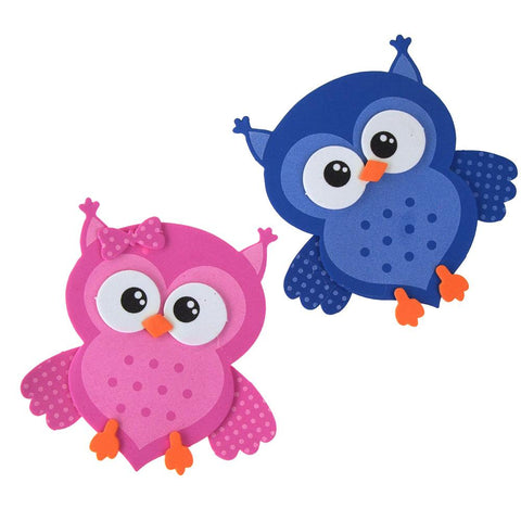 Foam Owl Animal Cutouts, 4-Inches, 10-count