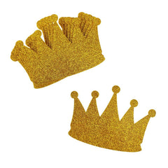 Glitter Foam Crown Cut-Outs, Gold, 4-1/2-Inch, 10-Count