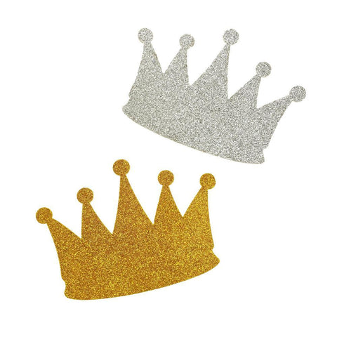 Glitter Foam Crown Cut-Outs, 4-1/2-Inch, 10-Count