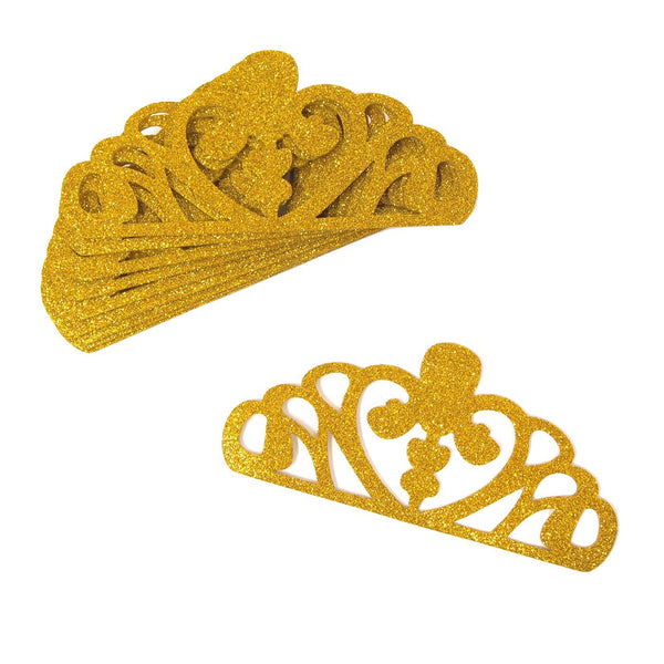 EVA Glitter Foam Tiara Crown Cut-Outs, Gold, 5-1/4-Inch, 10-Count
