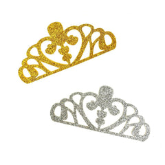 Glitter Foam Tiara Crown Cut-Outs, 3-Inch, 10-Count