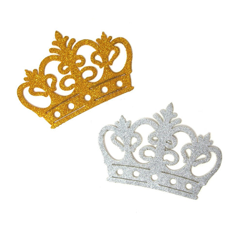 Glitter Foam Royal Crown Cut-outs, 4-3/4-Inch, 10-Count